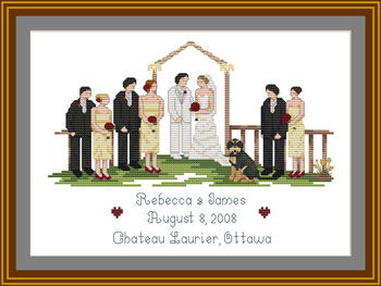 Cross-stitch Wedding sampler kit