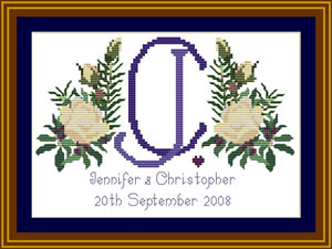 Cross stitch wedding commission
