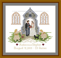 Church wedding Sampler