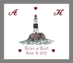 Ring Bearers Pillow lighthouse Design