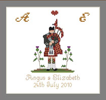 Scottish Ring Bearers Pillow
